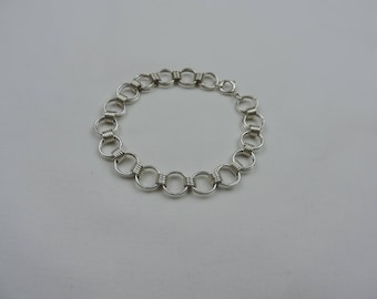 Sterling Silver Round Links Bracelet