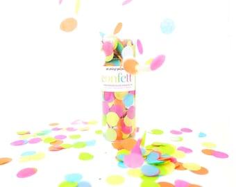 Bright Rainbow Confetti Tube / Confetti Bomb