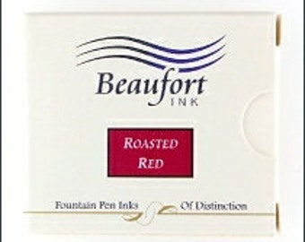 Beaufort Ink - Roasted Red - 6 Cartridge Pack