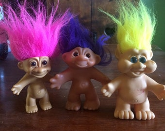 Vintage troll dolls, Russ and co. troll dolls, toys and games