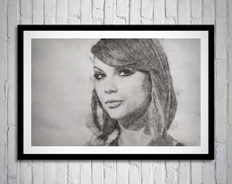 Taylor Swift, Sketch Art, Taylor, Reputation, Taylor Swift Portrait, Taylor Swift Print Art