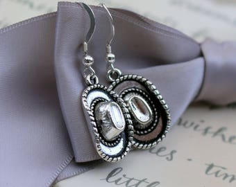 Cowgirl Hat earrings with Sterling earwires