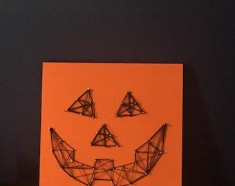 Jack O' Lantern String Art