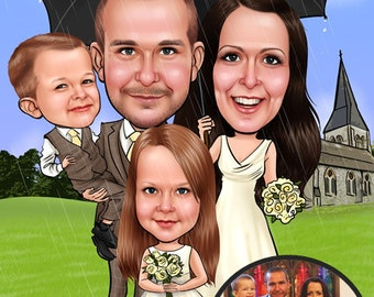 Wedding Gifts - Custom Wedding Caricatures / Personalized Wedding Gift / Wedding Portrait / Wedding Cartoon / Wedding Gift Ideas