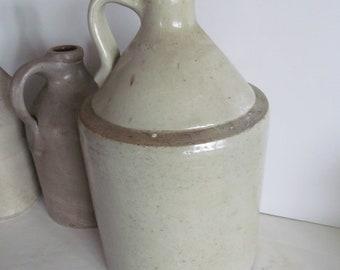 Large Antique Liquor Stoneware Jug,Prop,Crock, Stoneware Liquor Jug,Antique Primitive Farmhouse Decor,Stoneware Cowboy decor Moonshine Jug