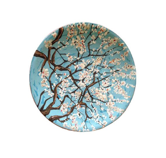 sc 1 st  Etsy & Decorative plate Spring Blossom Ceramic wall art