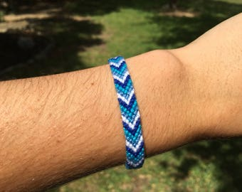 Custom Knotted Friendship Bracelet - Chevron