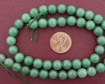 8mm round gemstone green aventurine beads