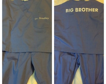 SALE ---> Personalized Kids Scrubs:  Big Brother, Big Sister, Little Doctor!