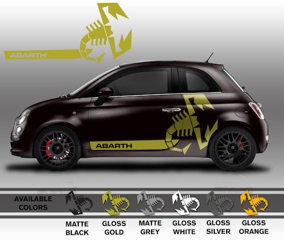 Items similar to Custom Fiat 500 Abarth Large Scorpion Side Graphic
