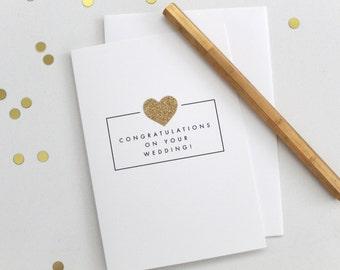 congratulations on your wedding / wedding card / wedding shower card / mr and mrs card / wedding cards / marriage card / congrats wedding