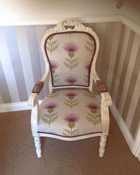 Antique French Chair Upholstered French Chair Armchair