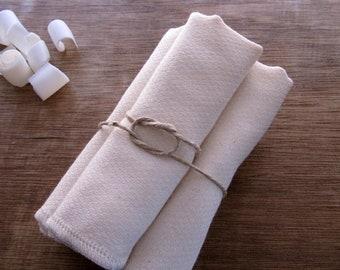 Organic Birdseye Cotton Dishcloths, Wipe Two Ply Eco Friendly -- Set of 16, Organic Cloth, Choose Your Thread Edge Color