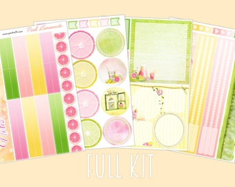 Pink Lemonade - May, Note page planner stickers, 4pages  (for Erin Condren, Plum Paper, Kikki K, Paperchase, Filofax)