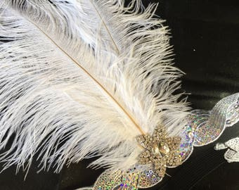 Feather Headpiece A, Hair Accessories, Wedding Hair Accessories, Bridal Hair Accessories, Bridal Headpieces, Special Occasion Headpieces
