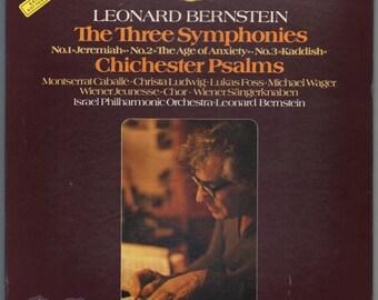 Leonard Bernstein - The Three Symphonies (1978) Vinyl LP PROMO  Chinchester 3