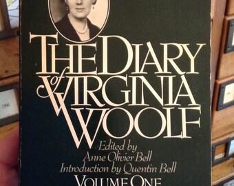 Le journal de Virginia Woolf volume un 1915-1919, le livre de cru, 1979, femme, auteur féministe, livre de poche, Bibliophile cadeau