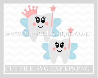 Tooth fairy svg file  SVG, DXF, PNG Files for Cricut and Silhouette cutting Girl svg, svg Baby Girl svg, tooth svg,tooth svg, tooth