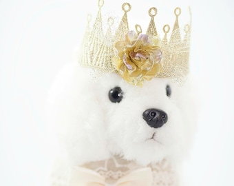 NEW! Cat and Dog Flower Tiara, Cat and Dog Flower T