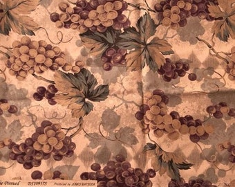 Grapes Vines cotton fabric
