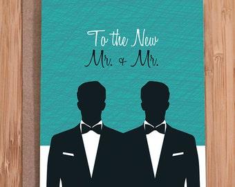 Homosexuell Hochzeitskarte / Herr und Herr.