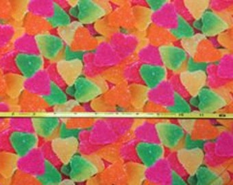 """NEW Sugar drops on  cotton lycra knit fabric 95/5 58"""" wide."""