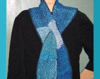 PDF Pattern for V and U shaped Scarves Woven on the Potholder loom