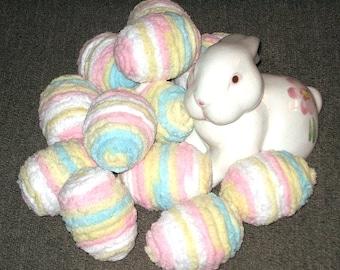 """Set of 12 """"Chenille"""" Pastel Easter Eggs"""