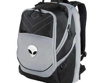 Alien Backpack | Embroidered Space NASA Roswell Planets Moon Child Galaxy Tumblr