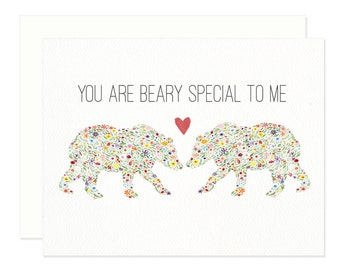 You Are Beary Special Love Greeting Card