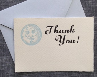 Mini Thank You Card and Envelope - Letterpress Thank You Card - Enclosure Card