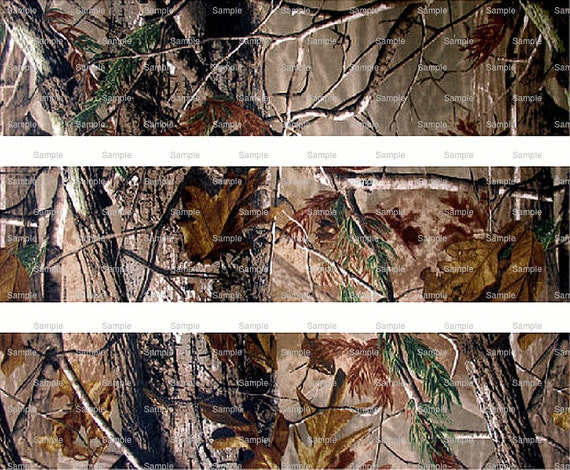 Woodland Camo - Birthday Background - Designer Strips - Edible Cake Side Toppers- Decorate The Sides of Your Cake! - D5446