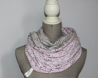 Pink Cowl Neck Scarf, Chunky Cowl, Infinity Scarf