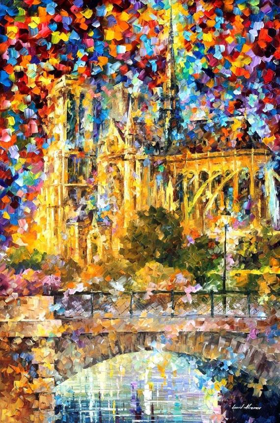 Paris oil painting Notre Dame De Paris Paris wall art