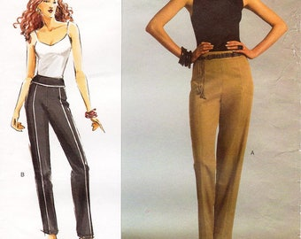 "All Sizes/Hip 34 1/2"" - 57"" - Vogue Pants Pattern V2948 - Today's Fit by SANDRA BETZINA - Misses' Tapered Pants with Seam and Yoke Detail"