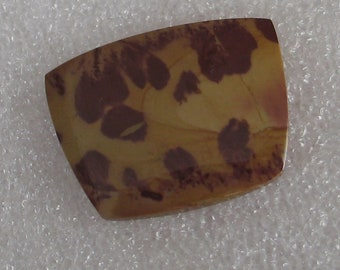 Vivid Red and Yellow Rose Petal Jasper Stone Rectangular Cabochon 30mm