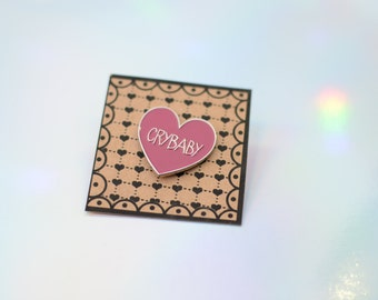 Crybaby John Waters enamel pin |cry-baby walker pin