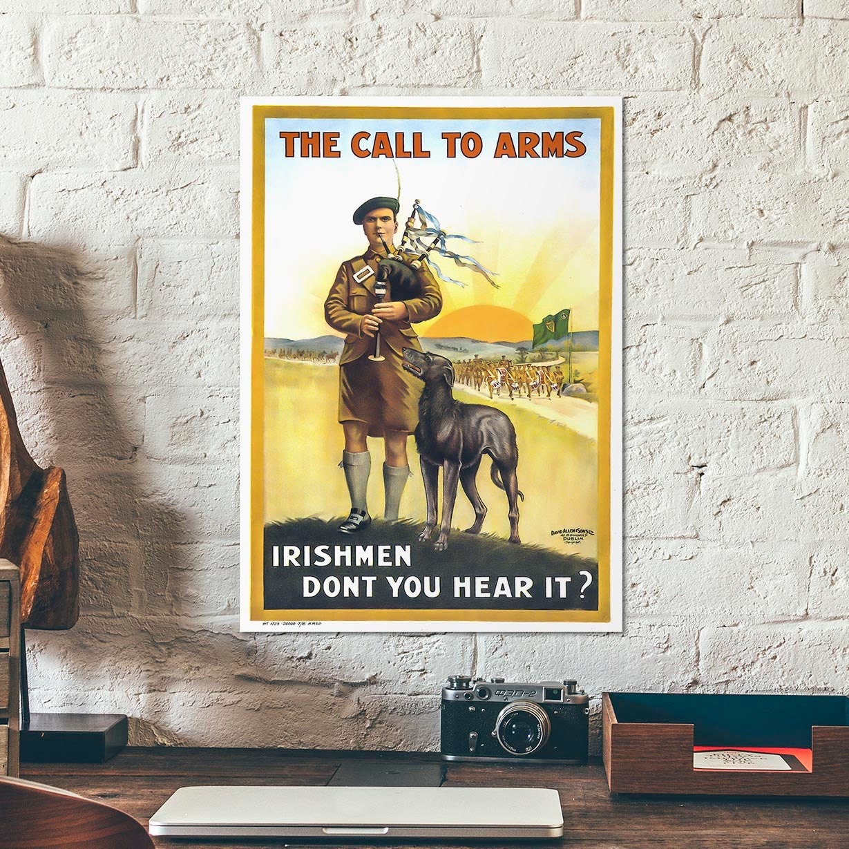 WWI British Irish Army recruitment poster showing showing a
