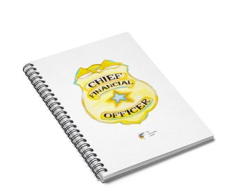 Chief Financial Officer Spiral Notebook, CFO Gift, Finance Gift, CFO Notebook, Finance Notebook, Accountant Gift, Accounting Gift CFO Badge