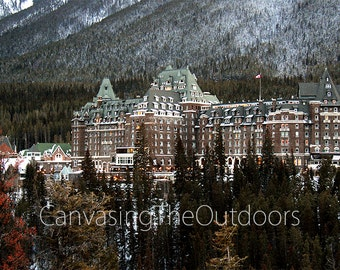 Banff Springs Hotel Canvas Wall Art