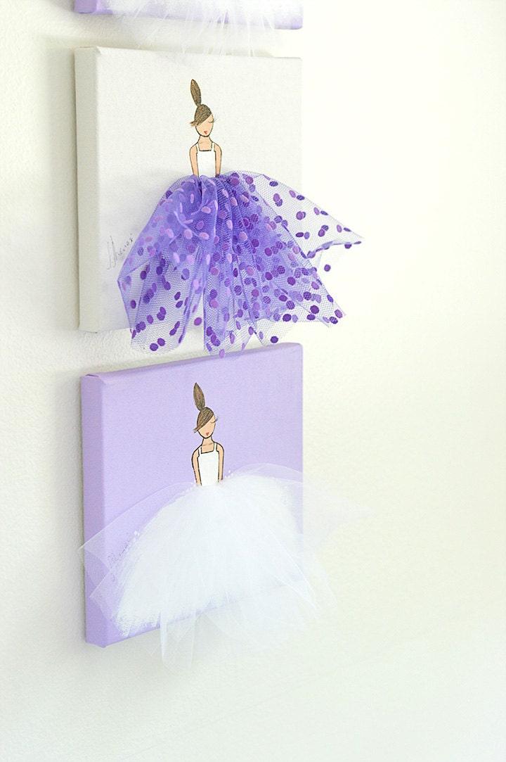 Curtains For Baby Girl Nursery: Baby Girl Nursery Decor Ballerina Art Baby Girl Nursery Wall