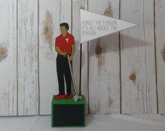 retirement table decoraiton golf theme