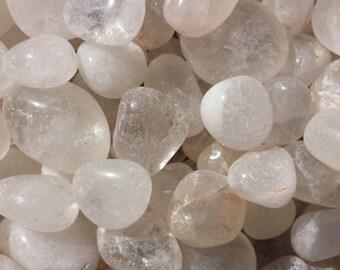 CLEAR QUARTZ TUMBLED Stone One (1) Medium/Large Natural Tumble Stone