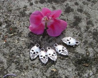 Charms x 5 charm skulls skull sterling silver Tibetan 20 x 15 mm