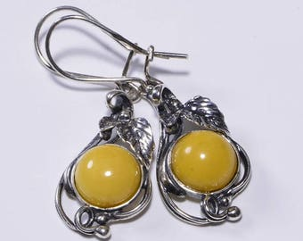 Butterscotch Amber Earrings Natural Amber Earrings Amber Jewelry Gemstone Jewelry Baltic Amber Jewelry
