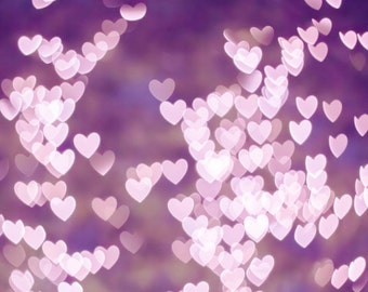 Abstract photography bokeh pink heart dorm room decor 8x10 24x36 purple pastel art print romantic love vintage loveheart print feminine girl