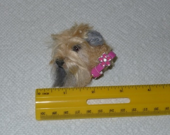 Pet Gift  Pet Lover Gift / Custom Dog Pin / Needle Felted Portrait of Your Pet / example Wheaten Terrier