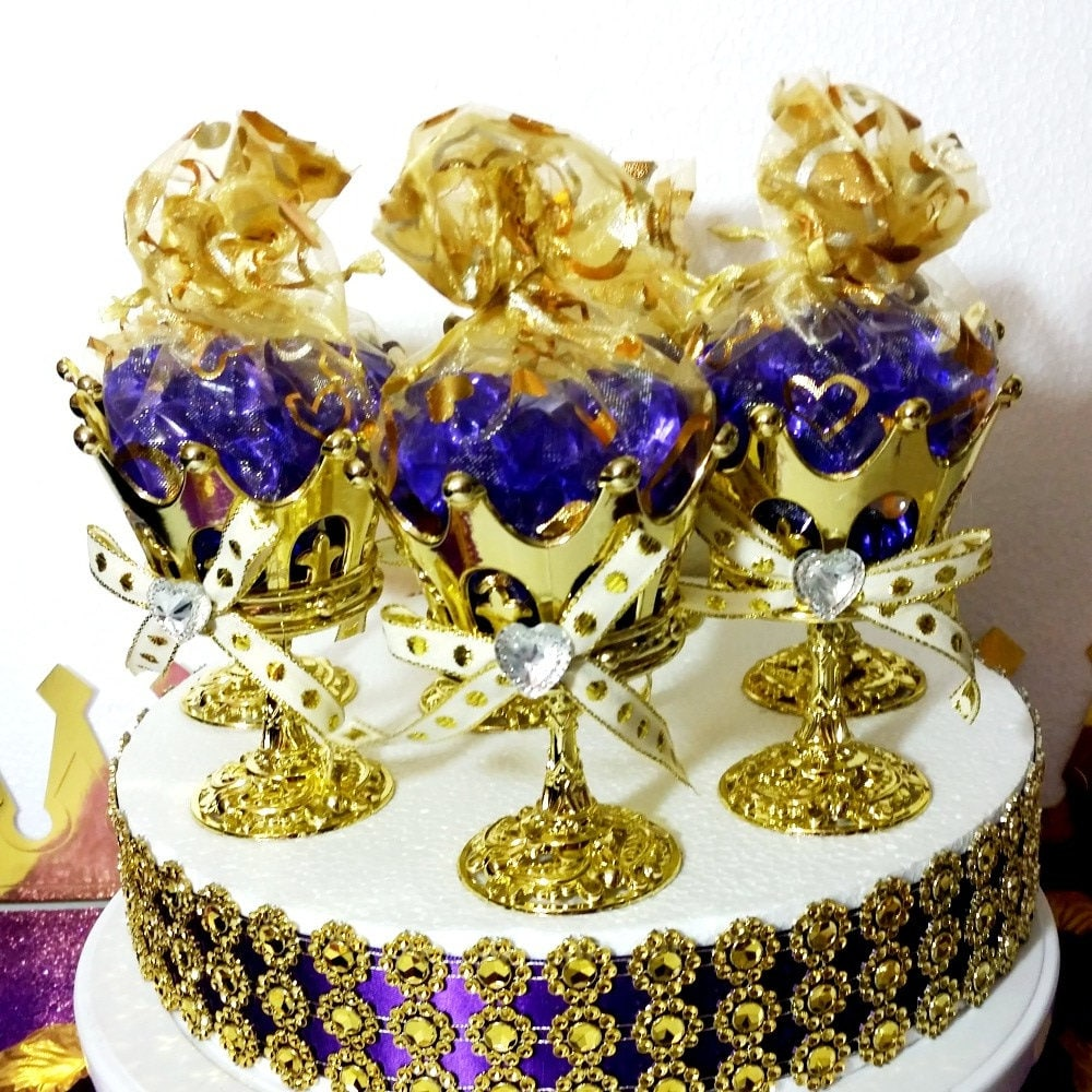 Crowns For Baby Shower: 12 NEW Crown Prince Gold Cup Favors For Royal Baby Shower