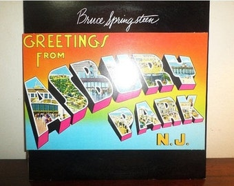 Vintage 1975 Vinyl LP Record Greetings from Asbury Park NJ Bruce Springsteen Near Mint Condition 11710
