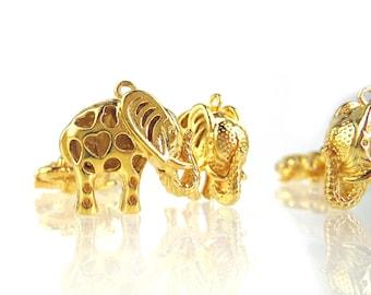 Golden Elephants on Parade, 4 pcs